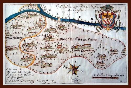 MAPPA DEL 1722 DELLA DIOCESI DI CIVITA CASTELLANA